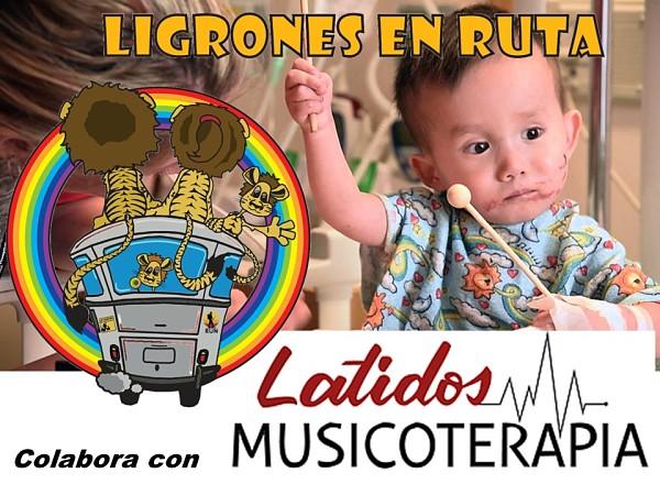 Ligrones en Ruta vibra con Latidos Musicoterapia – Y colaboramos